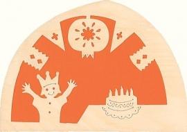 Verjaardag-feest silhouet