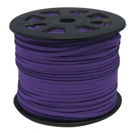suede veter Purple 3 mm van rol