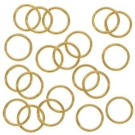 ringetje goudkleur 10 mm 1,0 mm dik