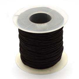 elastisch koord ZWART 0.8 mm