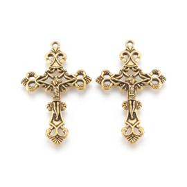 kruis antiek goudkleur