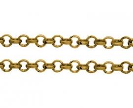 jasseron ring 6 mm goudkleur van rol