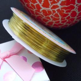 koperdraad goudkleur 0,3 mm