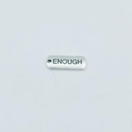"""tibetan style bedel/hanger """"enough"""""""