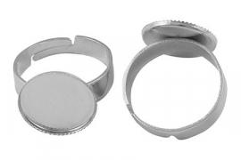 verstelbare ring diameter bovenstuk 15 mm nikkelkleur
