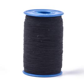 elastisch koord ZWART 0.6 mm