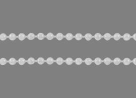 bolletjes ketting zilverkleur 1,5mm van rol