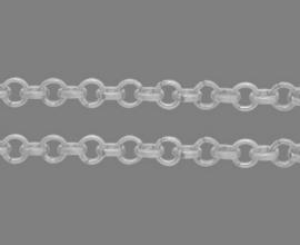 jasseron ring 6 mm zilverkleur