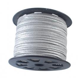 wildleder Schnur 3 mm silber von rolle
