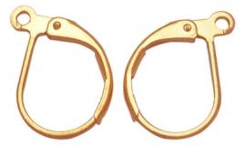 lever vorm oorringen goudkleur 17x10 mm (per paar)
