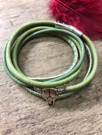 """sweet7"" groene wikkelarmband met magneet sluiting"