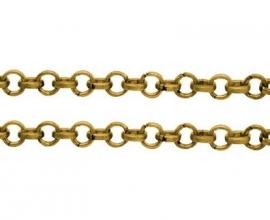 jasseron ring 3mm goudkleur van rol
