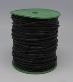 rubber koord 5mm zwart van rol