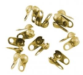 Knijpkalot met rijggaatje 8 x 6mm goudkleur (10 stuks)