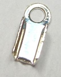 veter/leer klemmetje 6 x 3mm zilverkleur (10 stuks)