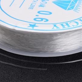 elastisch transparant nylondraad 0,6 mm