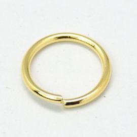 ringetje goudkleur 8 mm 1,0 mm dik
