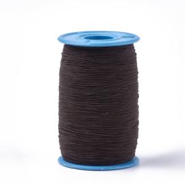 elastisch koord DONKER BRUIN 0.6 mm