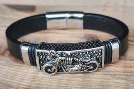 "lederen armband met magneetsluiting ""Motor"""