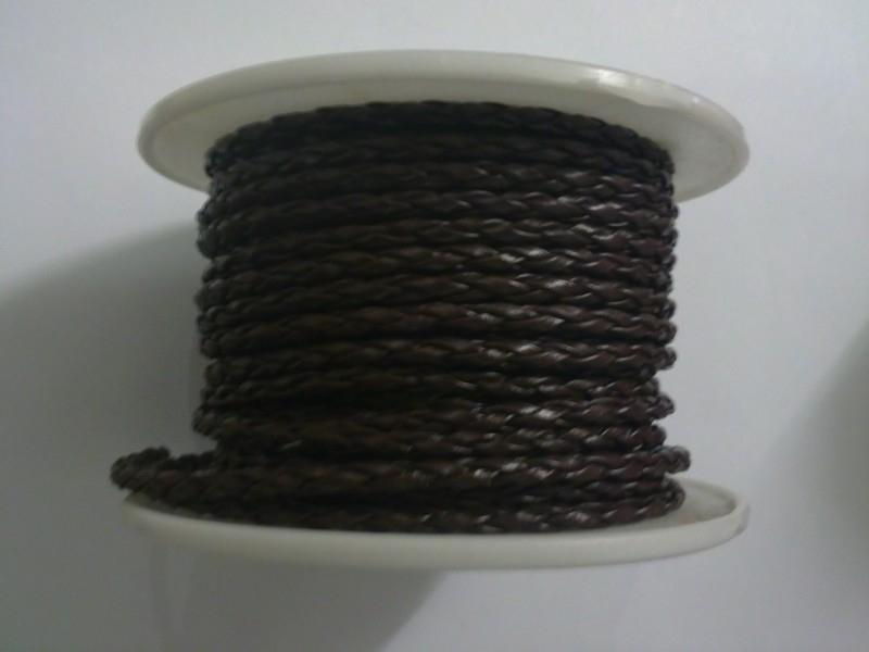 geflochten lederband 3 mm braun