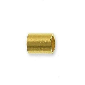 knijpkraal cilindervorm 2,5 mm (50 stuks) goudkleur