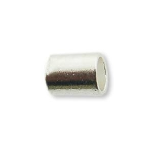 knijpkraal cilindervorm 2,5 mm (50 stuks) zilverkleur
