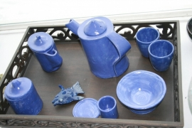 "Servies ""Totally blue"""
