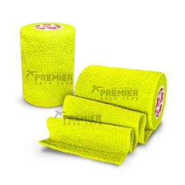 5 rollen Premier Socktape PRO WRAP 7.5 cm neon geel