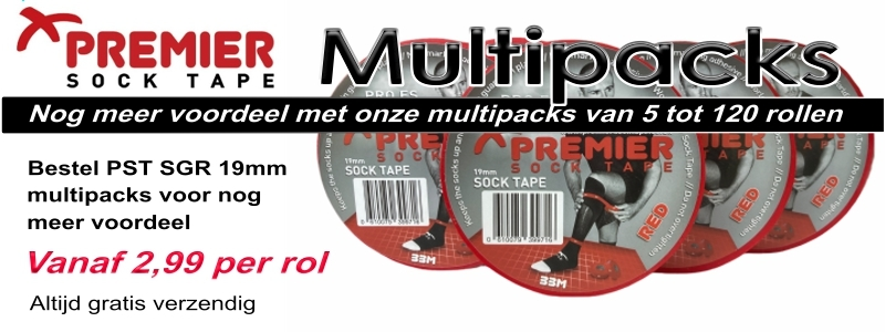 Premier Sock Tape 19mm multipack