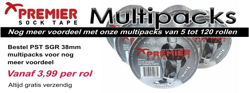Premier Sock Tape 38mm multipack