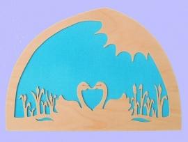 Sihouette Swans
