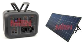 AC50 Power Station 500 Wh met zonnepaneel 100w ACTIEPRIJS