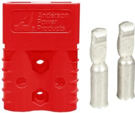 Anderson SB120 connector rood met contacten voor AWG6 ~16mm²