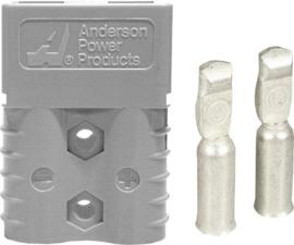 Anderson SB120 connector grijs met contacten voor AWG6 ~16mm²
