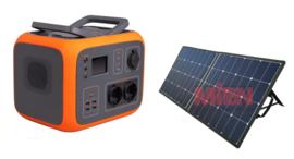 AC50 Power Station Oranje 500 Wh met zonnepaneel 100w ACTIEPRIJS