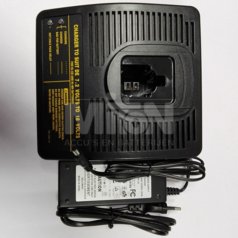 DeWalt gereedschap accu lader 7,2V - 18V NiCD NiMH