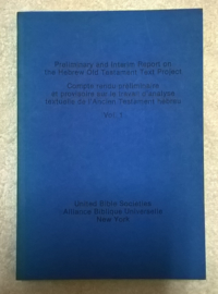Preliminary and Interim Report on the Hebrew Old Testament Text Project - 5 volumes