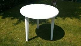 Terrastafel wit 80 cm