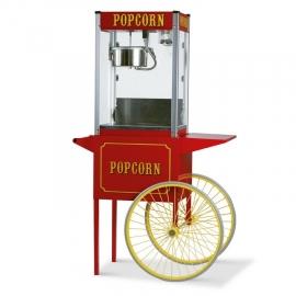Popcornmachine op wielen.
