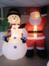 Kerstman & Sneeuwpop