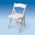 Witte klapstoel / Weddingchair