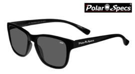 Polar Specs® Polariserende Zonnebril Wayfarer Classic PS9011 – Shiny Black – Polarized Black – Small – Unisex