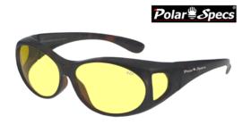 Polar Specs® Overzetbril PS5076/Tortoise Brown/Nightview/Small