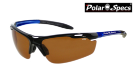 Polar Specs® Polariserende Zonnebril Velocity Sport PS9041 – Metallic Blue Frame – Polarized Brown – Medium – Unisex