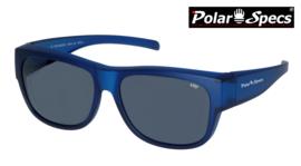 Polar Specs® Overzet Zonnebril PS5096 – Mat Navy Blue Satin  – Polarized Black – Large – Unisex
