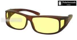 Overzetbril Spectra77/Shiny Brown/Nightview/Medium