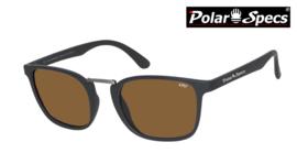 Polar Specs® Zonnebril Iconic PS9095 – Mat Zwart – Polariserend Bruin – Medium