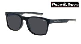 Polar Specs® Polariserende Zonnebril Wayfarer Sport PS9016 – Mat Zwart/Grijs – Polariserend Zwart – Medium/Large