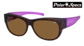 Polar Specs® Overzet Zonnebril PS5097 – Mat Havana/Pink – Polarized Brown – Medium – Women