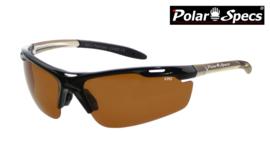 Polar Specs® Polariserende Zonnebril Velocity Sport PS9041 – Silver Frame – Polarized Brown – Medium – Unisex